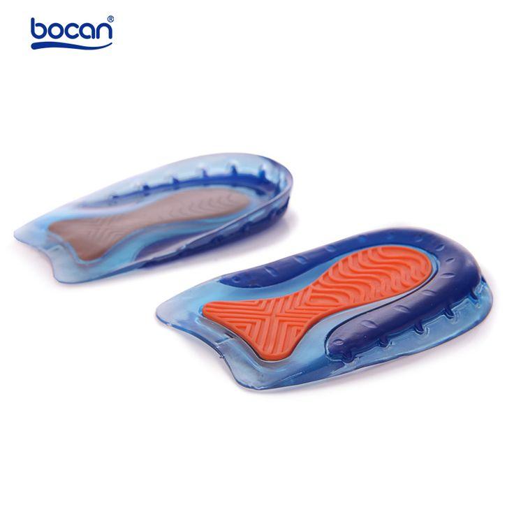 BOCAN De Gel De Zapatos plantillas de Absorción de Choque Del Talón Plantillas cómodo Zapato Plantillas de Gel para los hombres y las mujeres