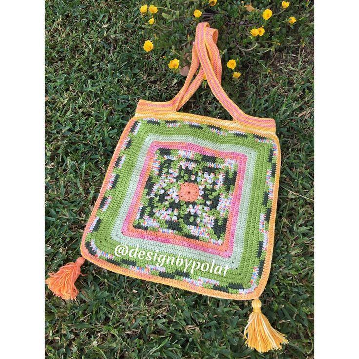 """110 Beğenme, 6 Yorum - Instagram'da designbypolat🍃👁👁🍃 (@designbypolat): """"Günaydınnn 🍂🌼🍂 Mutlu pazarlar 🐥 #designbypolat #örgü #crochet #örgüçanta #crochetbag #handbag…"""""""