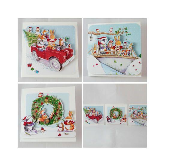 Cette liste est pour un pack de 3 jolies cartes de Noël fait à la main. Ils mesurent 3 x 3» et toutes disposent d'images mignonnes de Noël  Ce pack de cartes sont parfaits pour les enfants à distribuer à l'école ou pour vous à distribuer à vos collègues de travail ou entre amis.  Cette carte est vide à l'intérieur, donc il n'y a beaucoup d'espace pour écrire votre message spécial de Noël.  Ce pack comprend 3 enveloppes blanches  Pour continuer la navigation nos Articles de Noël, cliquez ici…