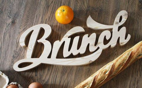 Inspiration typographique – Wood typography by « You talk to me »