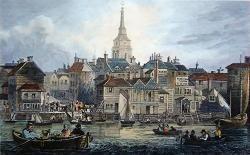 Antique print of Gravesend