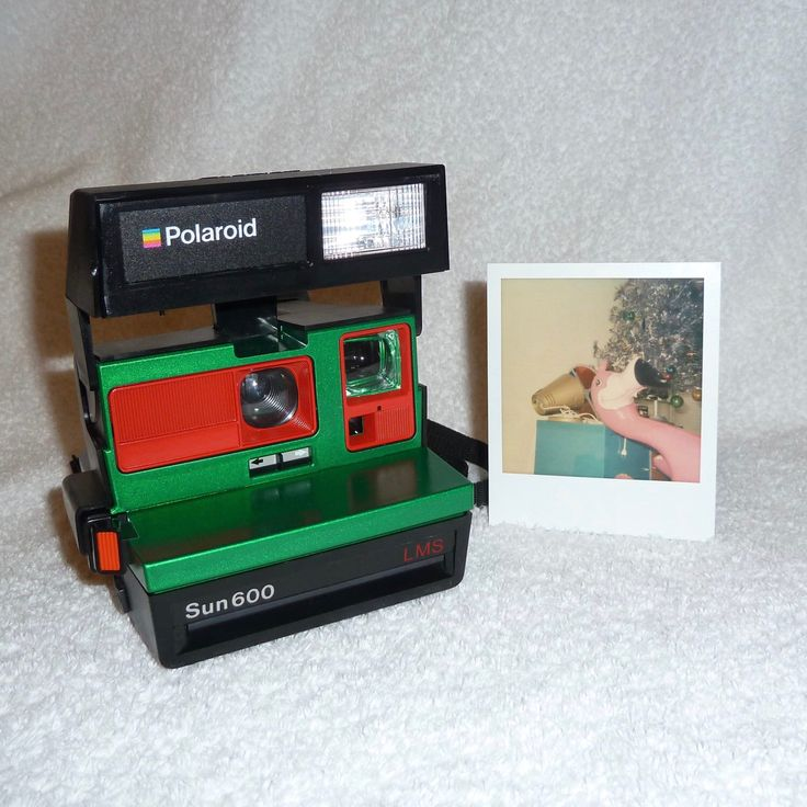 Upcycled Green and Red Polaroid Sun 600 - Cleaned and Tested by UpcycledClassics on Etsy https://www.etsy.com/listing/270137452/upcycled-green-and-red-polaroid-sun-600