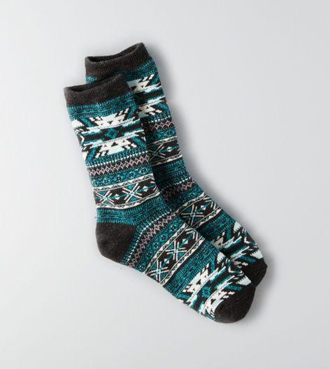 Charcoal AEO Crew Socks