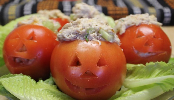 Are pumpkins to hard to carve on Halloween?  Make things easier by carving tomatoes.