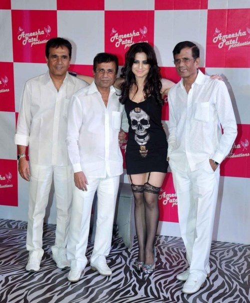 Ameesha Patel, Zayed Khan, Randhir Kapoor at 'Desi Magic' Press Conference