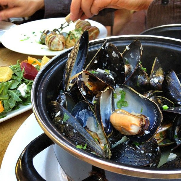 Bo-beau Kitchen + Bar is like eating in the south of France except in San Diego. Highly recommend for mussels, charcuterie and flatbreads.
