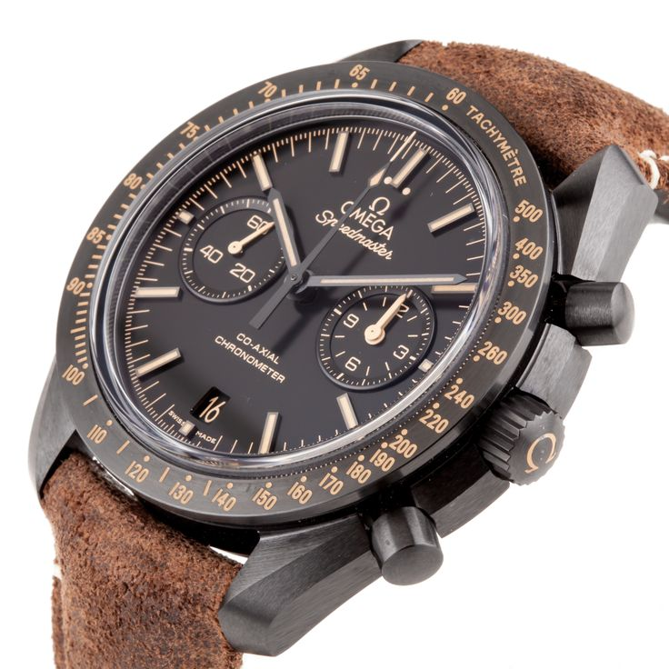 "Luxury Omega Speedmaster ""Vintage Black"" Dark Side Of The Moon Moonwatch Co-Axial Chrono Ref. 311.92.44.51.01.006 - Pre-Owned - This Pre-Owned Omega Speedmaster Moonwatch Co-Axial Chronograph Dark Side of the Moon ""Vintage Black"" is a special edition that was spurred by the mystique of the Earth's nightlight and its ever-changing yet constant presence. The watch features a 44.25mm black ceramic case with ""vintage"" Super LumiNova tachymetric scale on its bezel. This same ""vintage"" Super…"