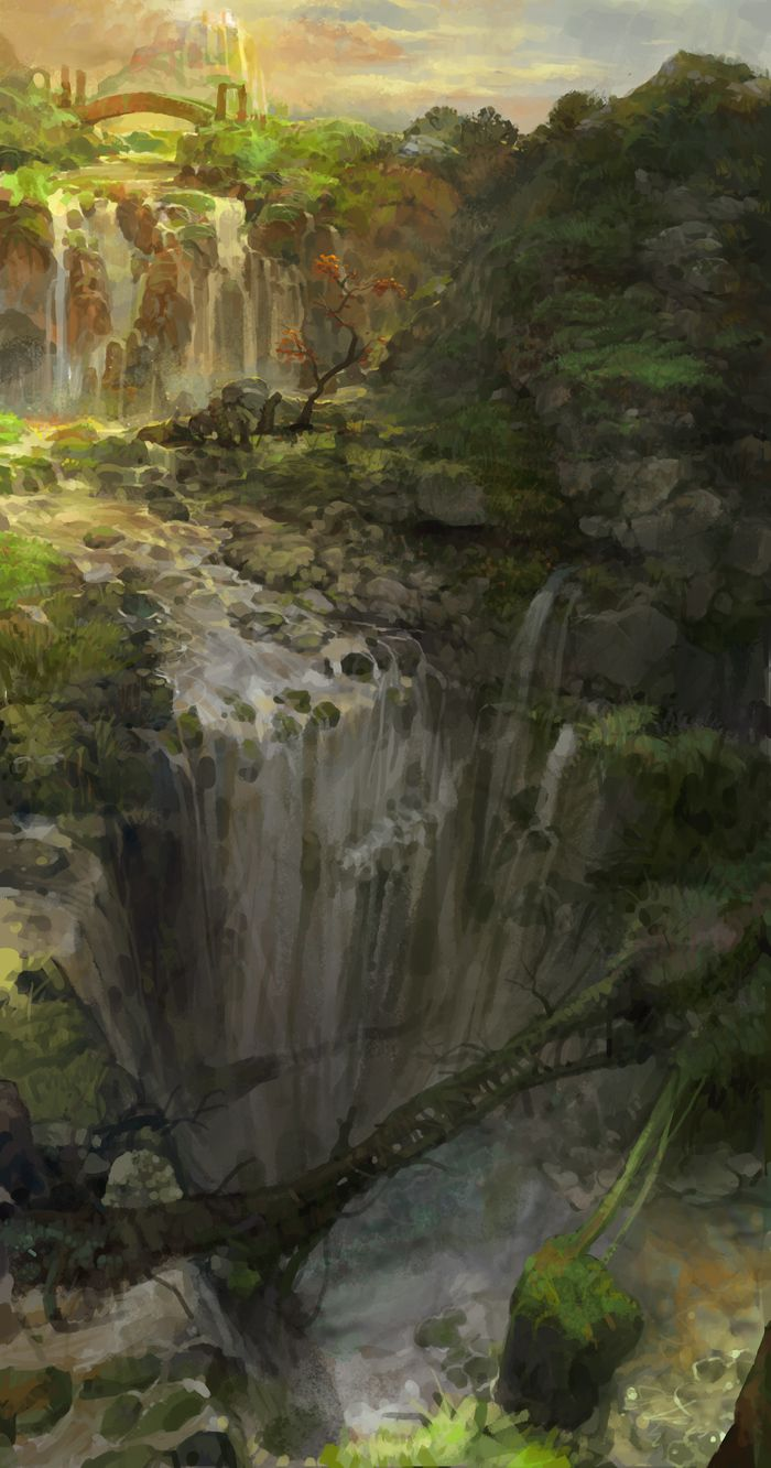 32 best images about environment design falls on for Waterfall environment