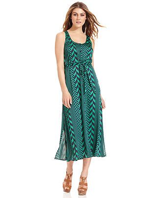 Michael michael kors dress sleeveless printed maxi sale for Macy s jewelry clearance