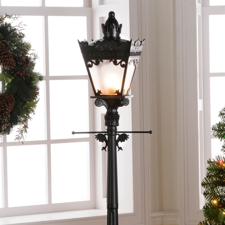 Decorative indoor lamp post iron blog for 59 victorian lighted black lamp post christmas decoration
