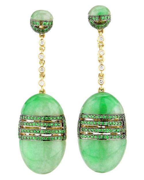 Wendy Yue Jade Drop Earrings