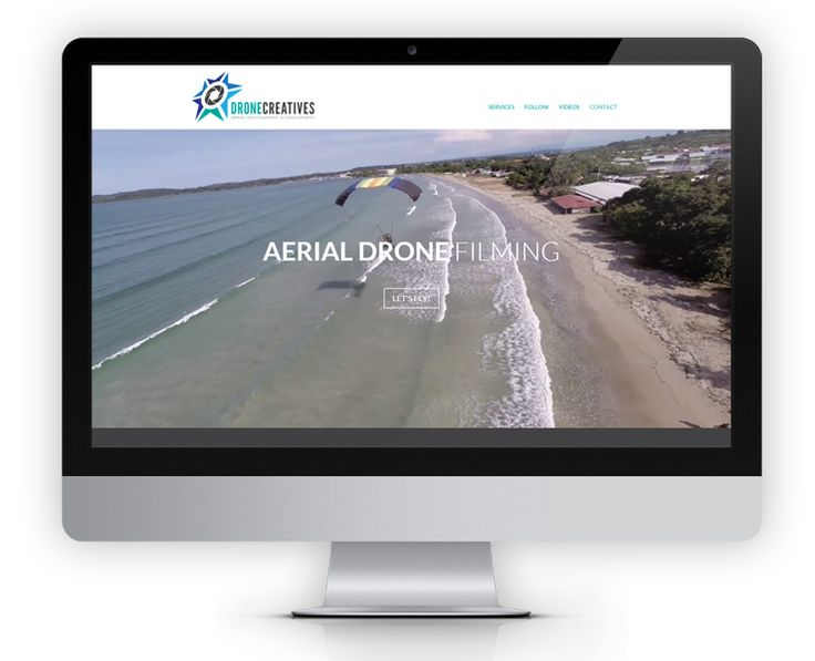 DroneCreatives.com is a one-page dynamic website that features a full-width video background header.  The video background works to create a more interesting, immersive and remarkable experience that truly showcases their unique product offering – aerial videography and photography.