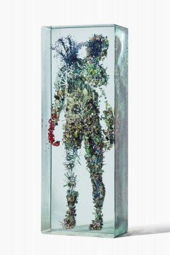 3D Collage Inside Glasses