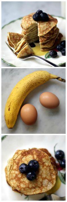 P i n t e r e s t :                               • nimastgo •                              Try this 2 ingredient banana pancake breakfast recipe!