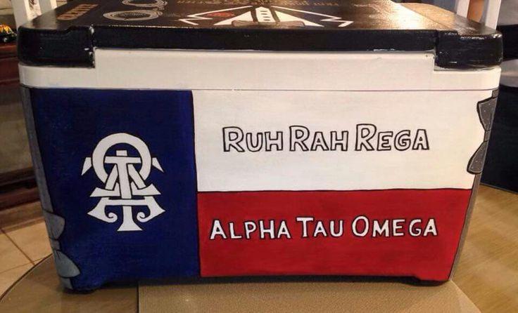 Alpha tau omega ΑΤΩ ATO ruh rah rega texas state flag cooler