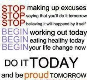 Do you make EXCUSES? Or do U have a goal to work on your CHALLENGES  If you're sick & tired of being overweight, broke, in bad relationships but continue to excuse yourself with same old reasons, it's time to realize that excuses keep you STUCK & cause you to believe that U lack control. If you've been making excuses about why you can't shed weight, get out of debt, change a bad relationship it's time to recognize that YOU CAN DO something about it & take action to regain control over your…