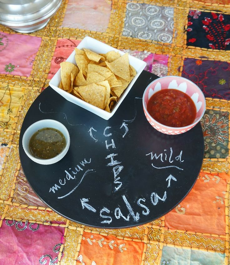 diy project: chalkboard lazy susan
