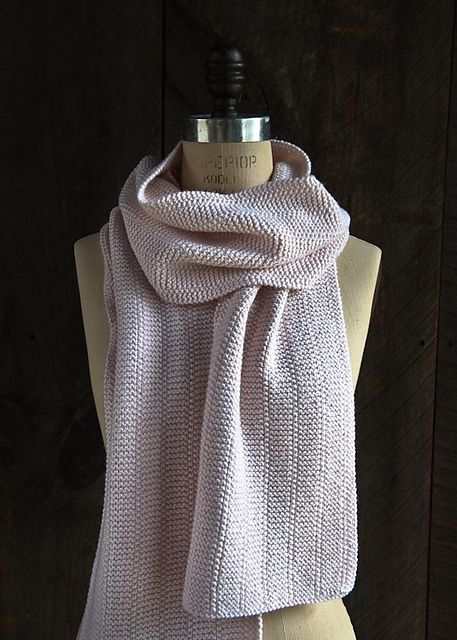 Broken Garter Scarf – a free pattern for a basic knit scarf by Purl Soho.