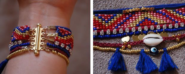 DIY — Hipanema like bracelet tutorial                                                                                                                                                                                 More
