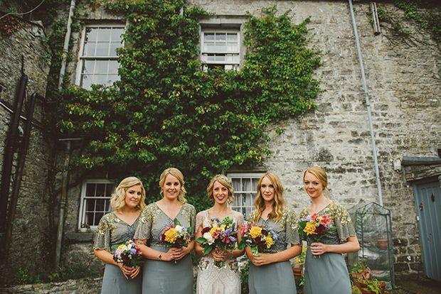 Grey sparkle bridesmaids dresses from Virgos Lounge| www.onefabday.com