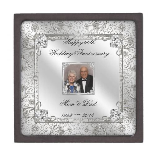 Wedding Gifts For 60th Anniversary : 60th Wedding Anniversary Photo Gift Box Premium Jewelry Boxes