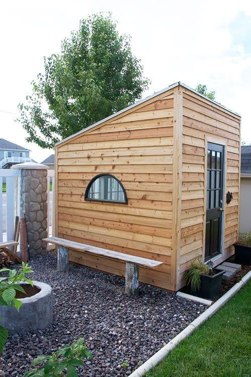 90 best garden sheds images on pinterest for Small modern shed