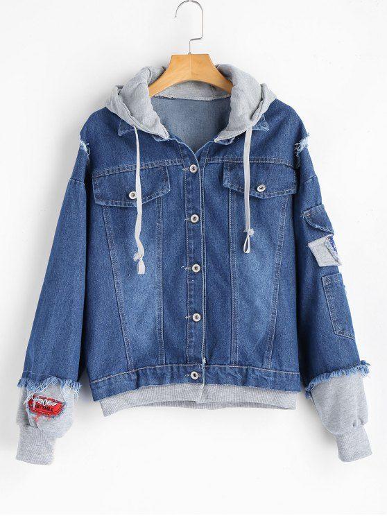 5cdeeaa0f0 Comprar Jaqueta Jeans Capuz de Moletom : Jaquetas & Casacos. Somente  R$133.58 e frete grátis!