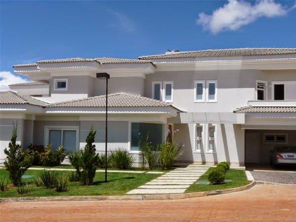 25 melhores ideias de casas de exterior cinza no for Cores modernas para fachadas de casas 2016