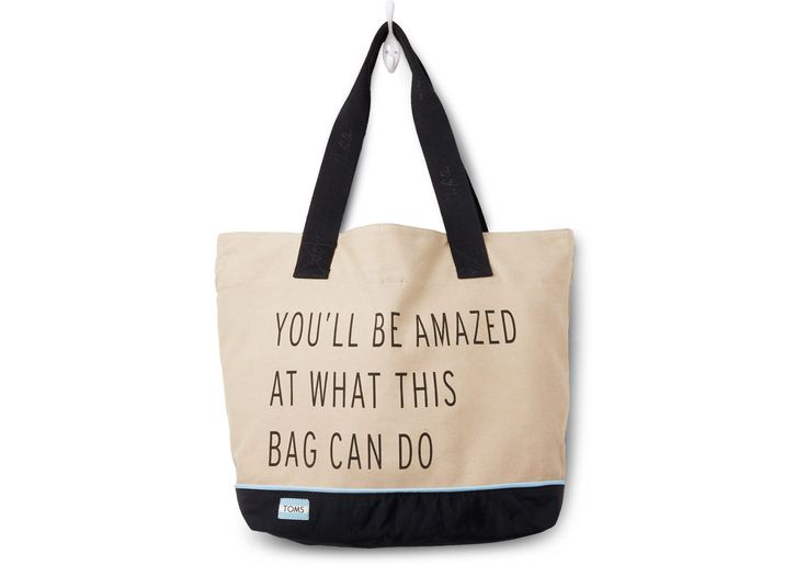 My new favorite TOMS line....With every bag you purchase, TOMS will help provide a safe birth for a mother and baby in need. One for One®. Khaki You'll Be Amazed Transport Tote
