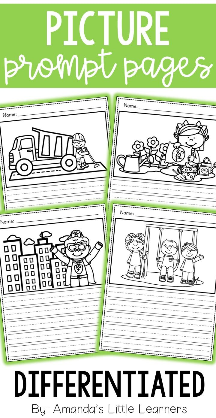 Get your students writing creatively with this set of picture writing prompts! Students can use the picture one each page to aid them in writing their own stories to describe what is going on. Using their own details and additions to the picture, students can customize their own fun story!