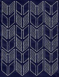 Sashiko 1-11 - I like that this one looks like arrowheads.  Cute for a border.: