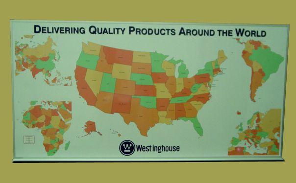 DDS Custom whiteboard US map image Custom Dry Erase Map