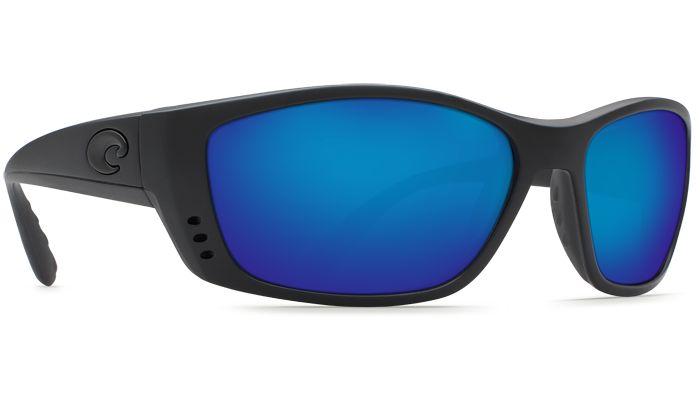 Costa Del Mar Fisch 580G Blackout/Blue Mirror Polarized Sunglasses