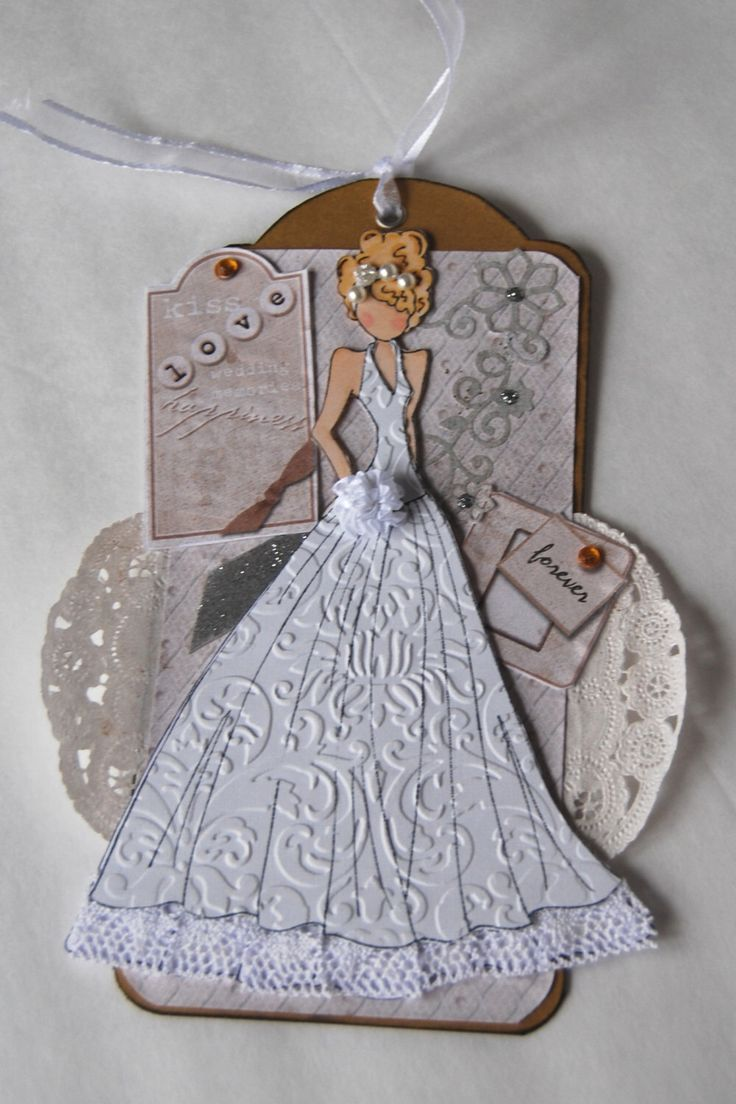 Handmade Prima Wedding Doll Tag, Love Forever by Smiles4Paper on Etsy https://www.etsy.com/listing/222020016/handmade-prima-wedding-doll-tag-love