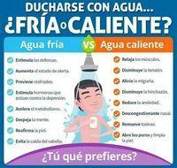 Agua fría VS Agua Caliente