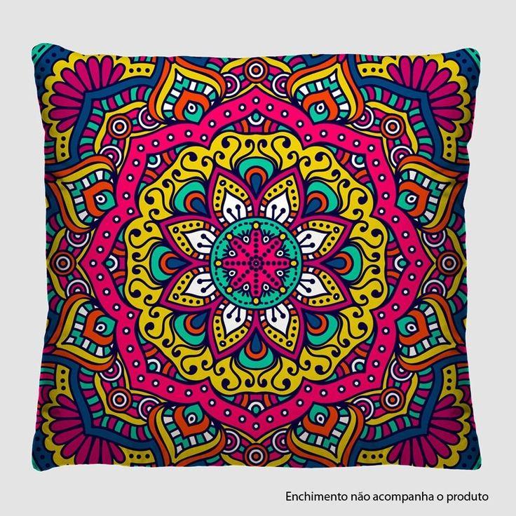 Mandala - cushion cover {lojasamericanas.com.br} // Capa Para Almofada 40x40cm Mandala A30 - Virô Presentes
