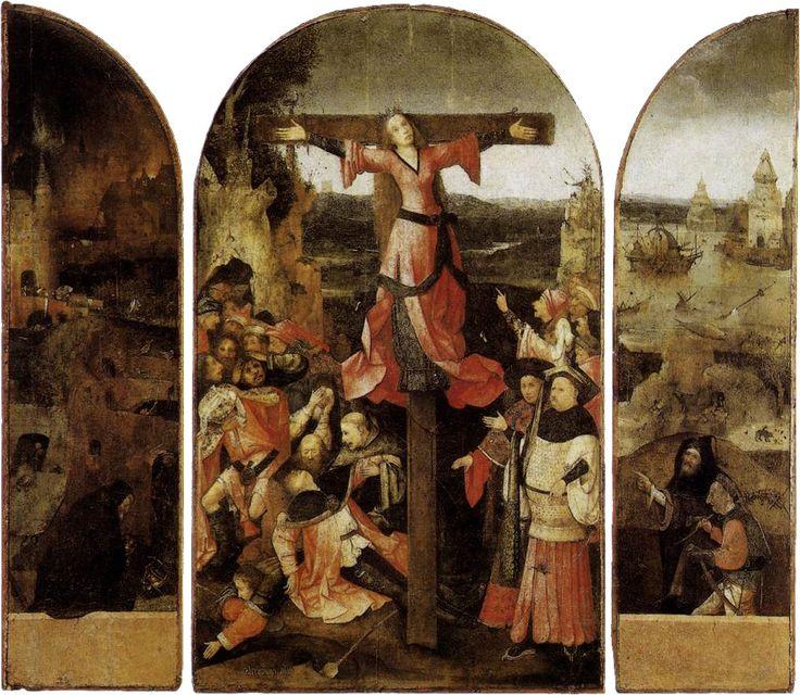 Trittico della martire crocifissa Autore Hieronymus Bosch Data 1497 circa Tecnica Olio su tavola Dimensioni 104 cm × 119 cm Ubicazione Palazzo Ducale, Venezia
