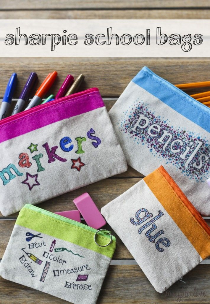 sharpie school supply bags & 11 best DIY school supply images on Pinterest | Notebook Notebooks ...