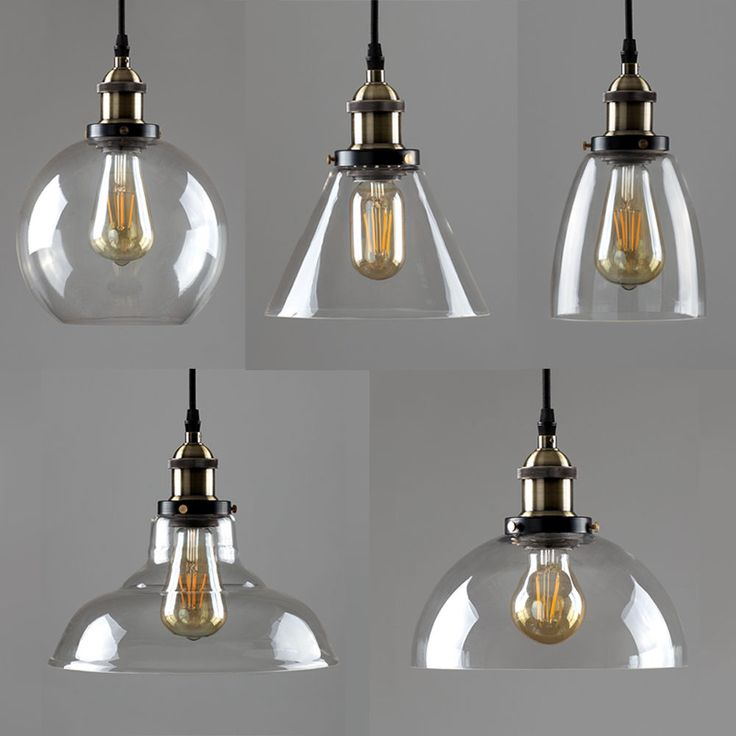 These stylish light fittings are perfect from bringing an industrial style edge to any room of your home. Available in 5 designs, these fittings feature a clear glass shade with antique brass detailing and a high quality black fabric flex. | eBay!