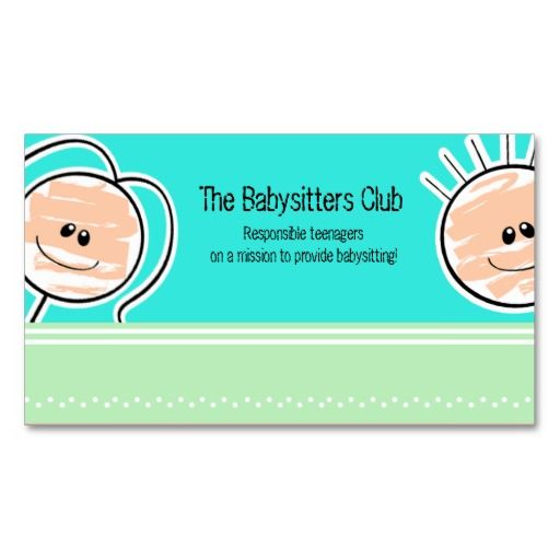 Babysitter business card forteforic babysitter business card colourmoves