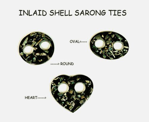 TOPSELLER! Women`s Inlaid Shell Sarongs Tie by 1 World Sarongs - in your choice of various styles $4.99