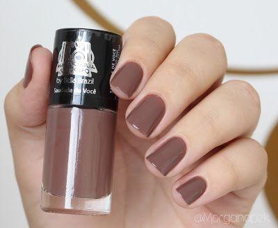 "Esmalte ""Saudade de Você"" - Bella Brazil | Unhas Marrom chocolate | Brown Nails |Elegante | by @morganapzk"