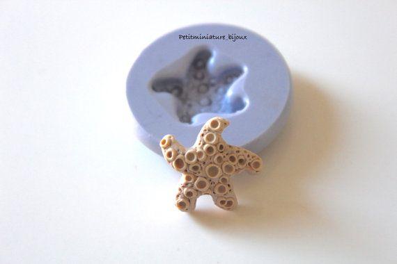 Stampo silicone flessibile stella marina fimo di PetitMiniatures