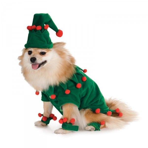Disfraz de elfo navideño para perro - Navidad