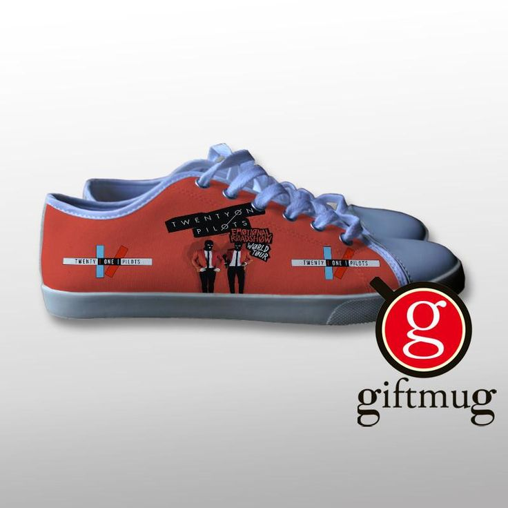Twenty One Pilots emotional roadshow Canvas Shoes #shoes #21pilots #twenty #one #pilots #gift #cover