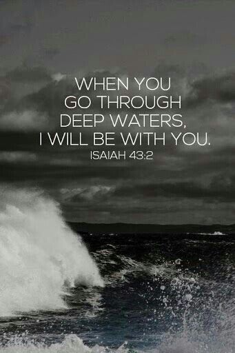 God works his best miracles through a storm ... the Bible says that God rides on the clouds, using them ss his chariot ... so when you are battling waves (life's unexpected stresses- hang on, because God will come and rescue you- if only you ask Him to do so