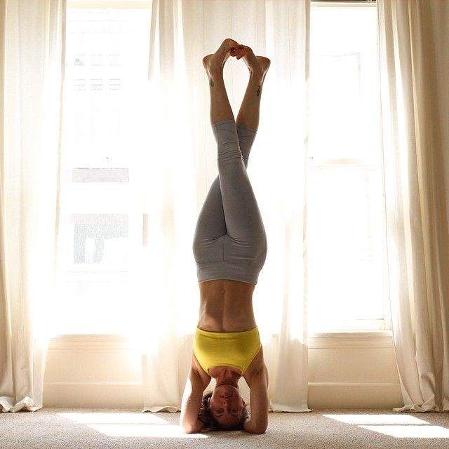 healthy lifestyle Cute feet in headstand.