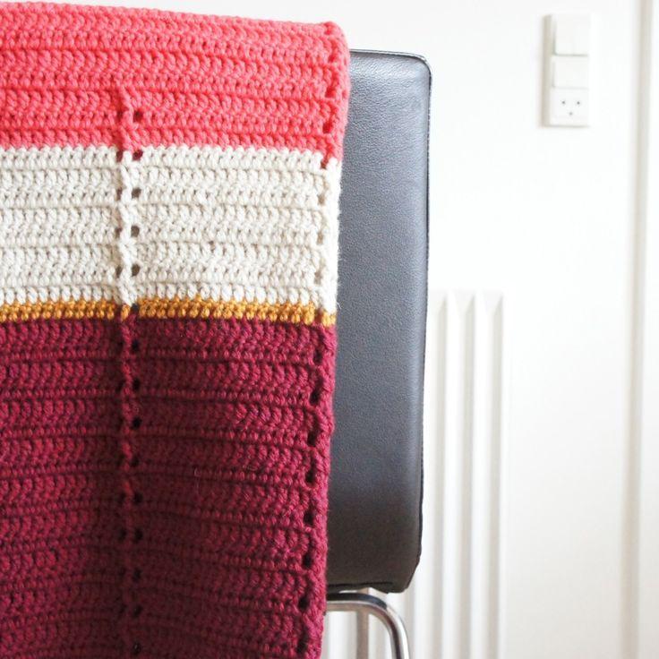 Hæklet babytæppe / Crochet babyblanket