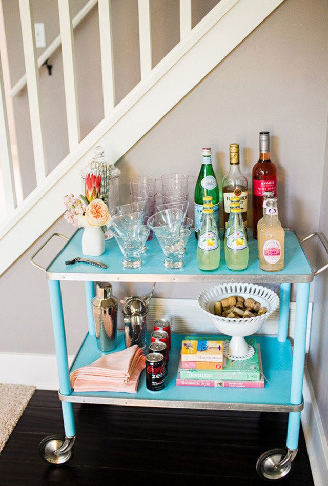 Best Dressed Bar Carts: Turquoise Bar Cart