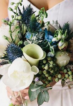 Flowers - Australian Natives - Blue Green and Ivory Bridal Bouquet. not for me but stunning